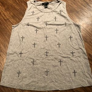 Grey forever21 top